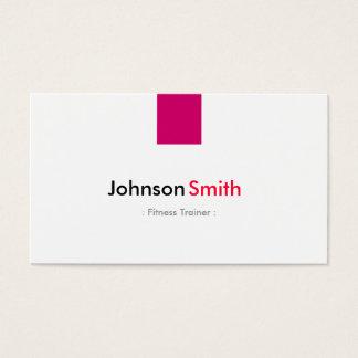 Fitness-Trainer - einfaches Rosen-Rosa Visitenkarte