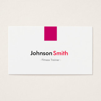 Fitness-Trainer - einfaches Rosen-Rosa Visitenkarten