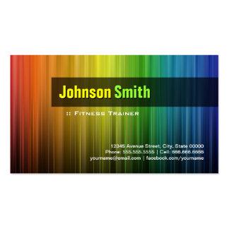 Fitness-Trainer - stilvolle Regenbogen-Farben Visitenkartenvorlage