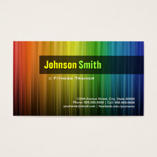 Fitness-Trainer - stilvolle Regenbogen-Farben Visitenkarten