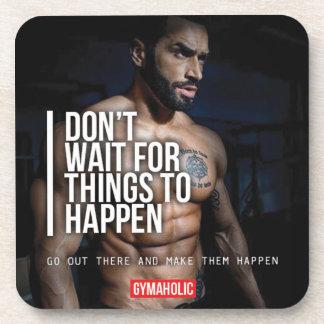 Fitness-und Bodybuildings-Motivation Getränkeuntersetzer