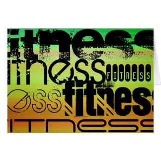 Fitness; Vibrierendes Grünes, orange u. Gelb Karte