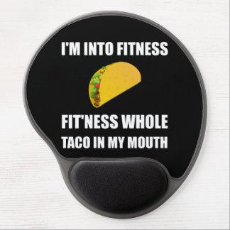 FitnessTaco in meinem Mund lustig Gel Mousepad