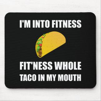 FitnessTaco in meinem Mund lustig Mousepad