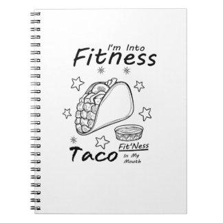 FitnessTacolustige Workout-Turnhalle Spiral Notizblock