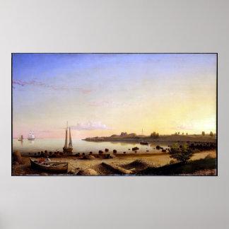 Fitz Henry Weg-Bühne-Fort-Gloucester-Hafen Poster