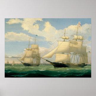 """Fitz Henry Weg - die Schiffe """"Winged Pfeil """" Poster"""