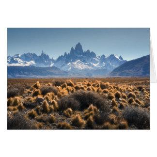 Fitz Roy, Patagonia, Argentinien Karte