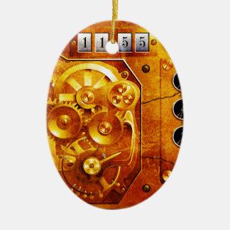 Five to of 12 Steampunk clock Grunge Keramik Ornament