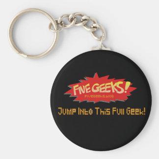 FiveGeeks.Blog Keychain Schwarzes Schlüsselanhänger