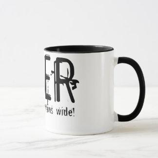Fixiermittel-Tasse - werfen Sie Ihre Vorhänge Tasse