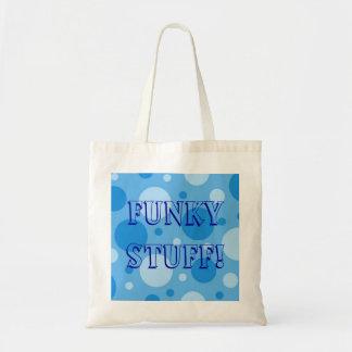 Fizzy blaues, flippiges Material! Budget Stoffbeutel