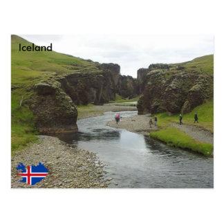 Fjaðrárgljúfur, Südostisland Postkarte