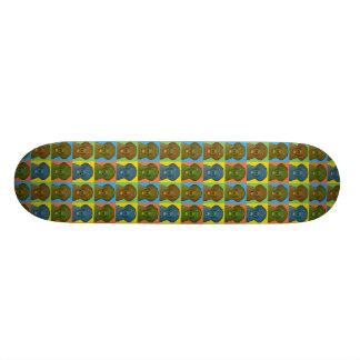 Flach-Überzogene Retriever-HundeCartoon Pop-Kunst Skateboarddecks