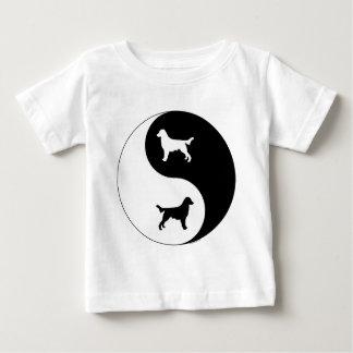 Flach-Überzogener Retriever Yin Yang Baby T-shirt