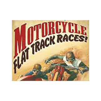Flache Bahn races2 des Motorrades Leinwanddruck