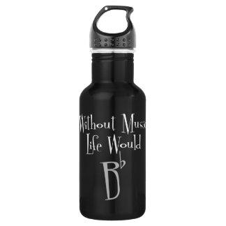Flache dunkle Wasser-Flasche B Edelstahlflasche