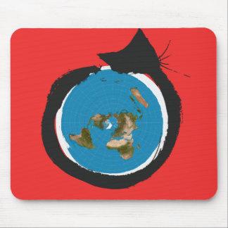 Flache Erdentwürfe - CAT-KARTEN-KLASSIKER Mousepad
