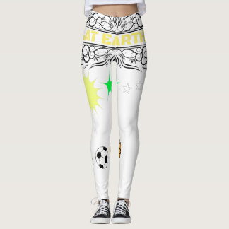 Flache Erdsportliche Abnutzung Leggings