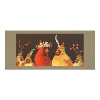 Flache Karte der Kardinals-Familie 10,2 X 23,5 Cm Einladungskarte
