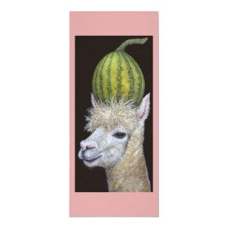 Flache Karte der Wassermelone-Erntemaschine 10,2 X 23,5 Cm Einladungskarte