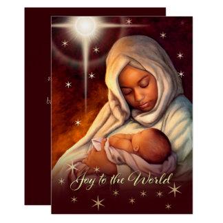 Flache Weihnachtskarten Afroamerikaner-Madonnas Karte