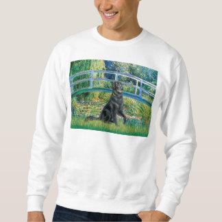 Flacher überzogener Retriever 2 - Brücke Sweatshirt