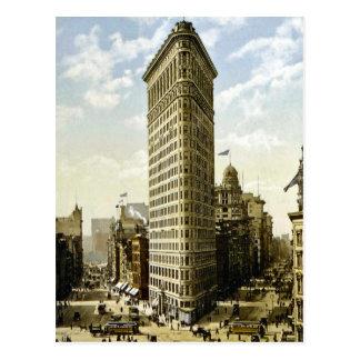 Flaches Eisen-Gebäude New York City, NY 1903 Vinta Postkarten