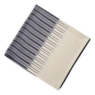 Flachs/tief blaues stilvolles Streifen-Muster Kopftuch