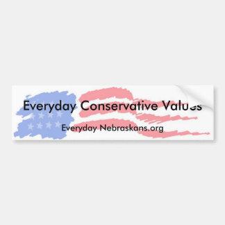 flag4, tägliche konservative Werte, tägliches N… Autoaufkleber