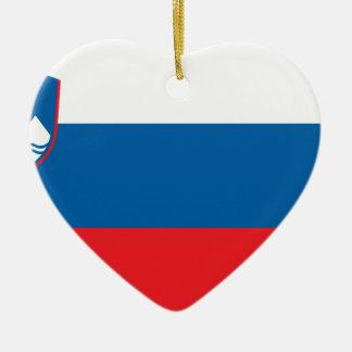 Flag_of_Slovenia Keramik Herz-Ornament