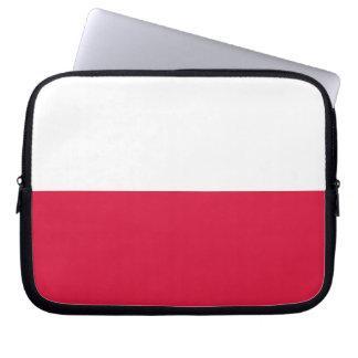 Flaga Polski - polnische Flagge Laptop Sleeve