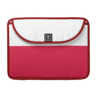 Flaga Polski - polnische Flagge MacBook Pro Sleeve