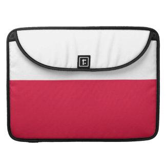 Flaga Polski - polnische Flagge Sleeve Für MacBook Pro