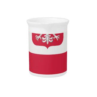 Flaga Polski z godłem - Flagge von Polen Krug