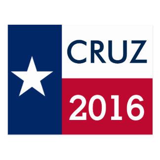 Flagge 2016 Teds Cruz Texas Postkarte