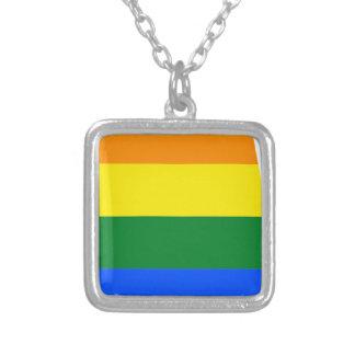Flagge Alabamas LGBT Versilberte Kette