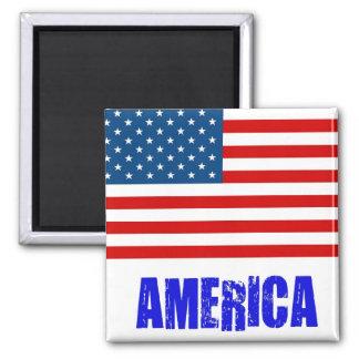 Flagge Amerika Quadratischer Magnet