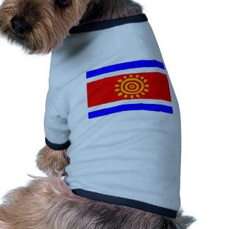 Flagge Angolas Antrag Angola Hund T-shirt