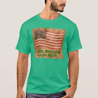 Flagge-Antiken-Blick-Schablone T-Shirt