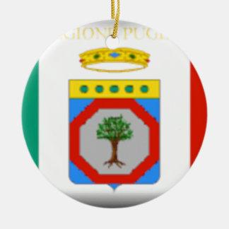 Flagge Apuliens (Italien) Rundes Keramik Ornament