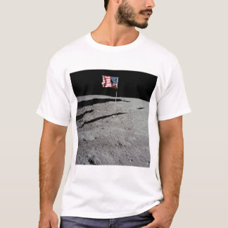 Flagge auf Mond, Apollo 11, die NASA T-Shirt