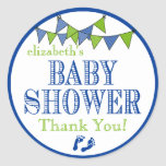Flagge-Baby Dusche danken Ihnen Runder Sticker