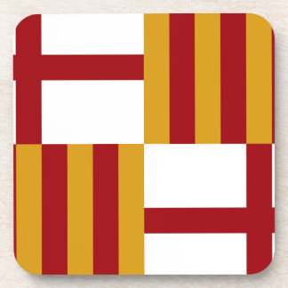 Flagge Barcelonas (Spanien) Getränkeuntersetzer