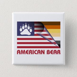 Flagge-Bärn-Stolz-Tatze Quadratischer Button 5,1 Cm
