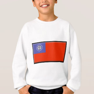 Flagge Birmas (Myanmar) Sweatshirt