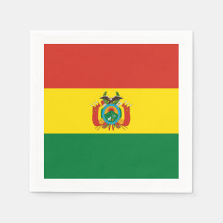 Flagge: Bolivien Papierserviette