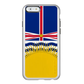 Flagge Britisch-Columbia silbernen iPhone Falles Incipio Feather® Shine iPhone 6 Hülle