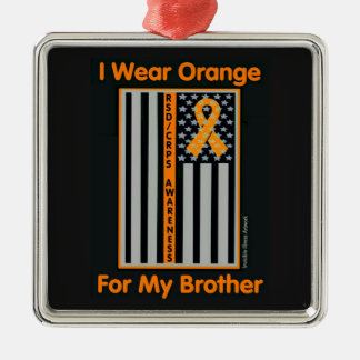 Flagge/Brother.RSD/CRPS Quadratisches Silberfarbenes Ornament