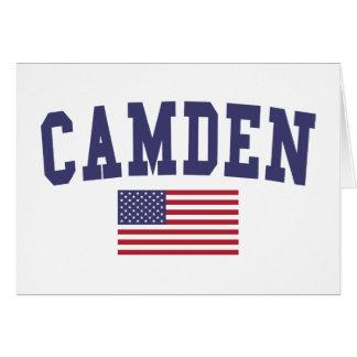 Flagge Camdens US Karte